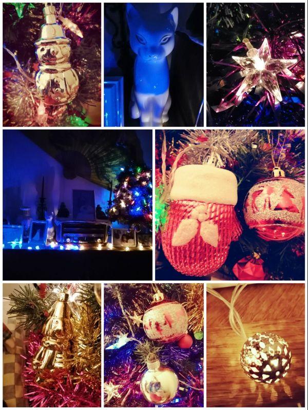 Un arc-en-ciel de Noël chez Laetitia.