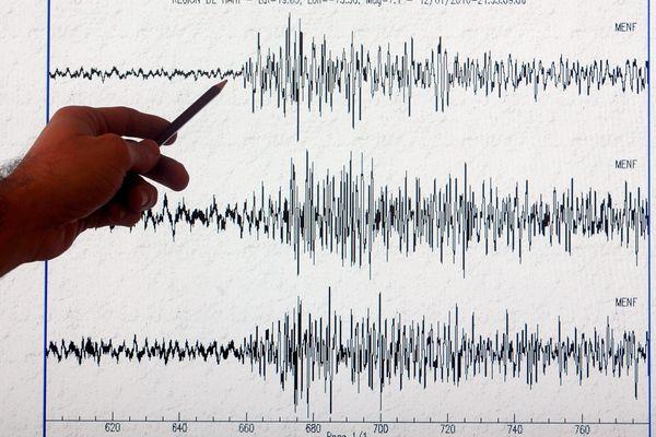 L'un des sismographes du centre de surveillance sismique de Strasbourg.