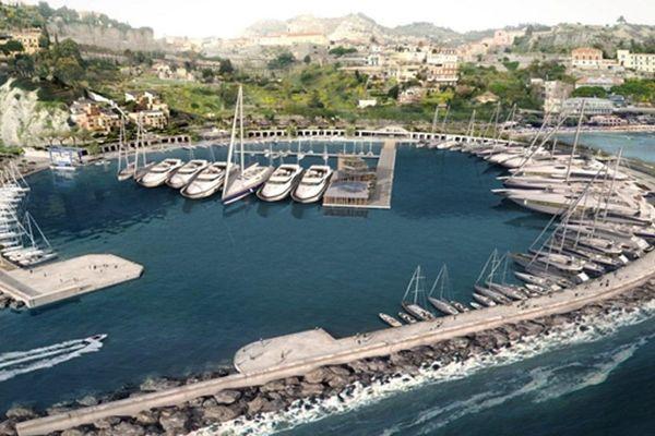 Le port de Cala del Forte une fois les travaux achevés.