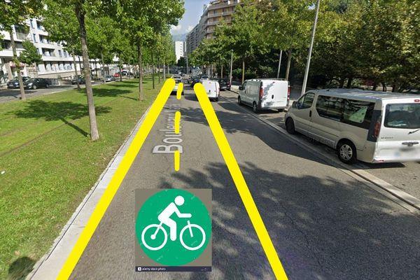"""A Grenoble, l'association """"Les Boîtes à Vélo"""" propose de donner plus de place au vélo après le confinement."""