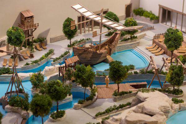 Deux bateaux d'exploration seront disposés au coeur du parc.