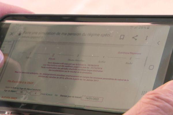 Le simulateur de retraite interne à la SNCF.