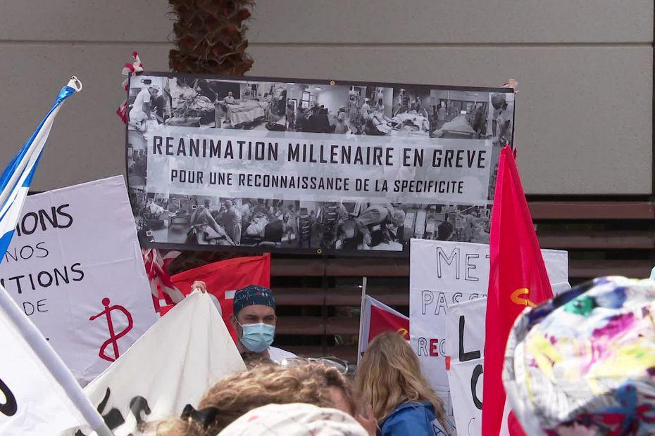 Dans le Gard et dans l'Hérault, le personnel des services de réanimation réclame plus de moyens et de considération