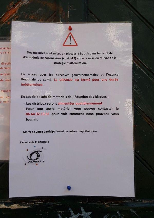 Le CAARUD contraint de fermé ses portes à Rouen.