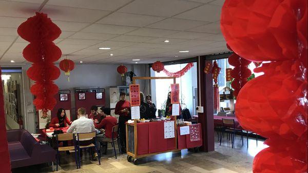 on fête le nouvel an chinois à l'Université de Tours
