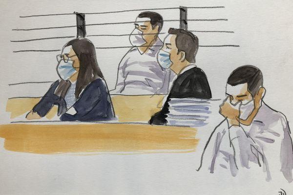 Juillet 2021. Laurent Dejean dans le box des accusés devant la cour d'assises du Tarn. Il est jugé en appel pour le meurtre de Patricia Bouchon en février 2011.