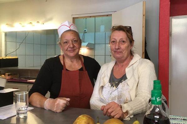 Jeanne et Pascale dans leur restaurant solidaire à Béziers - 8 février 2020