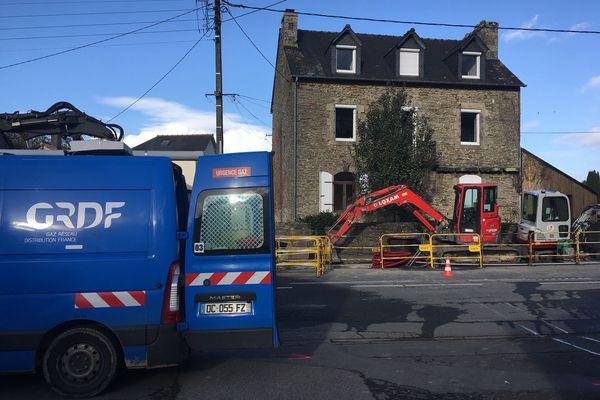Une fuite de gaz a eu lieu rue de Brest à Carhaix