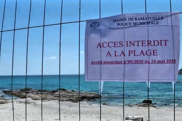 La plage de l'Escalet à Ramatuelle (Var) est de nouveau fermée au public depuis le dimanche 24 mai, 8h.
