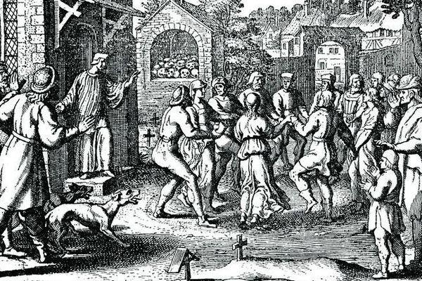 Lors de l'épidémie de danse de 1518 à Strasbourg, Frau Troffea serait la première femme à s'être convulsivement mise à danser.