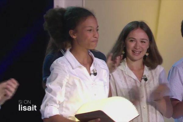 """Cathy Mvogo, jeune Béarnaise, gagnante du concours """" Et si on lisait à haute Voix """" organisée par l'émission littéraire de France 5 La grande librairie."""