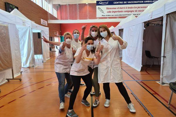 Les équipes de vaccination à Obernai donnent envie de se faire vacciner.