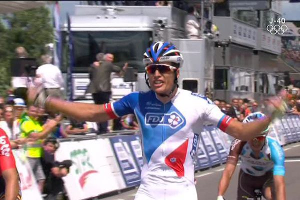 Le Franc-Comtois Arthur Vichot remporte un deuxième titre de champion de France de cyclisme, après celui de 2013.