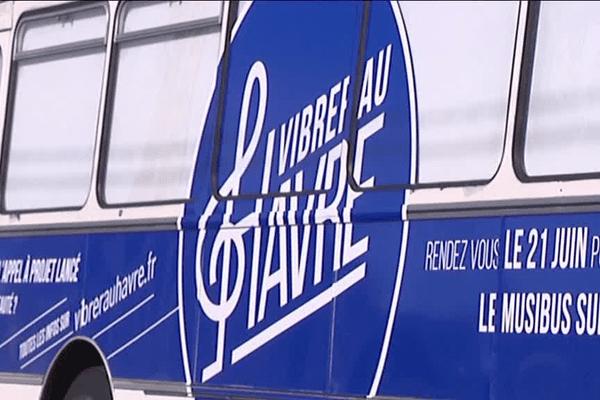 Le minibus musical du Havre lors de la fête de la musique le 21 juin dernier