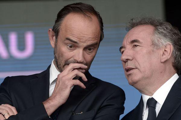 François Bayrou et Edouard Philippe en 2017. Ils vont se retrouver à Bordeaux ce dimanche 8 septembre à l'occasion du rassemblement de laRem à Bordeaux.