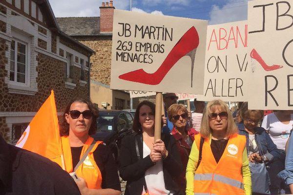 Manifestation à Fougères des salariés JB Martin le 13 juillet 2017