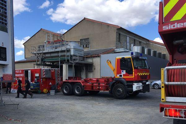 Les pompiers ont positionné leur PC sécurité à Bizanet.