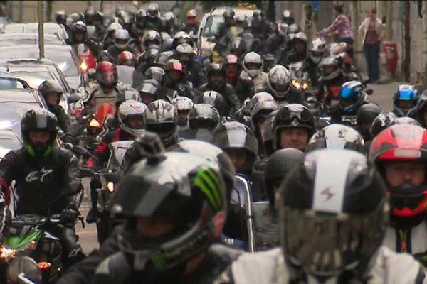 Rassemblement à Besançon à l'appel de la  Fédération Française des Motards en Colère