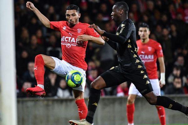 Nîmes Olympique contre Monaco le 1er février 2020.