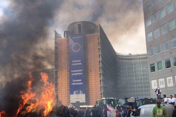 Les agriculteurs normands au coeur de la colère agricole à Bruxelles.