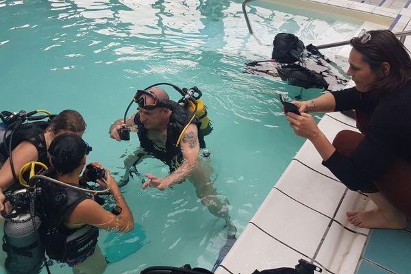 La clinique de Dracy-le-Fort propose une formation de plongée handisport