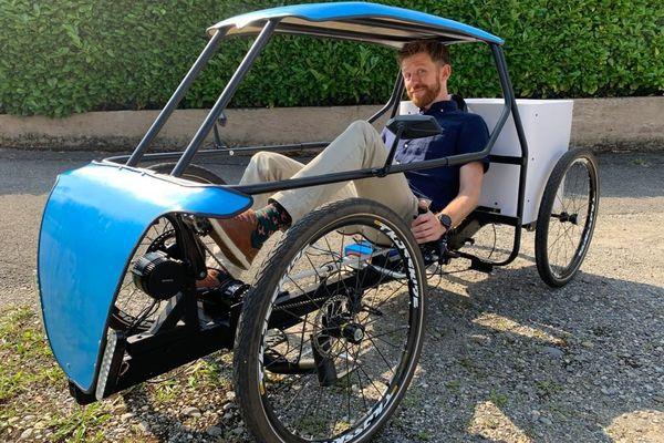 Jérémy Chieregato, concepteur du véhicule Ekos, croit en l'avenir de ce vélo-cargo à assistance électrique