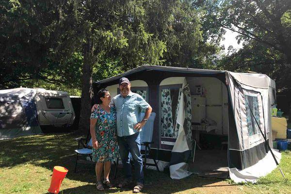 Christiane et Yves Dessemond, 40 ans de fidélité au camping de Tréjeux, à Thônes près d'Annecy
