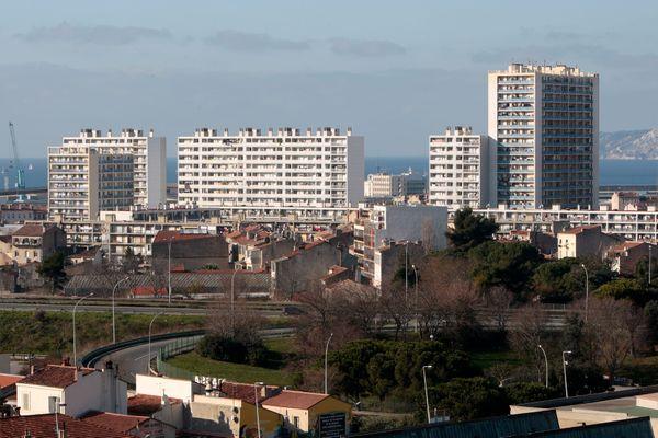 Cité Bellevue, dans le 3ème arrondissement de Marseille