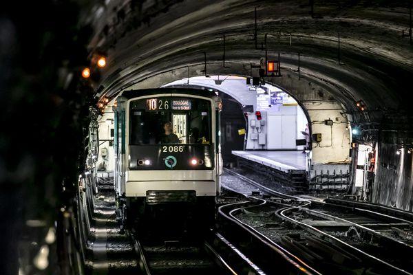 Le métro parisien (illustration).