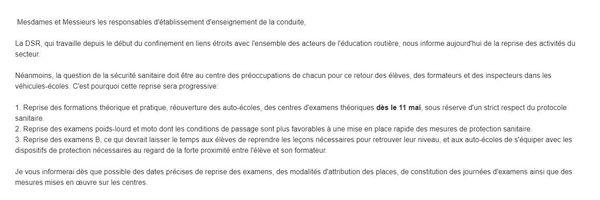 Email de la direction départementale des territoires de Côte-d'Or en date du vendredi 8 mai.