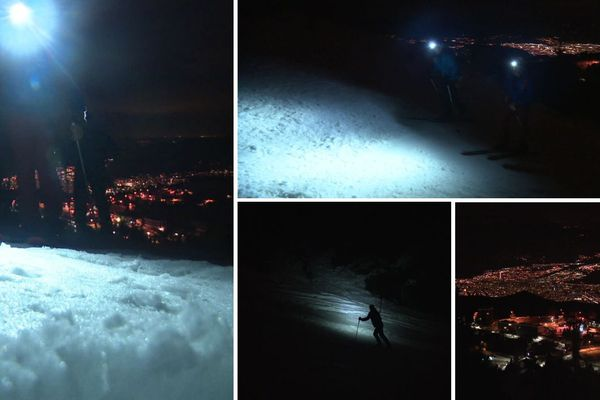 A la station de Chamrousse, une piste dédiée au ski de randonnée nocturne a été ouverte.