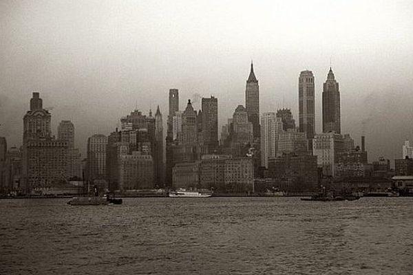 New-York en 1943, image d'archives