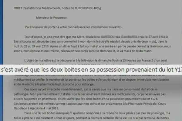 A Ajaccio,  la famillle alerte le Procureur le 10 juin 2013