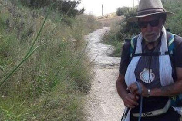 Hubert Léglise, 83 ans, sur le chemin de Compostelle