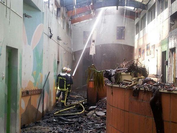 Six des dix classes de l'école de Gratentour ont été détruites.