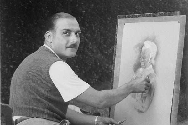 Le portraitiste nancéien, Jean Scherbeck, à Liverdun.