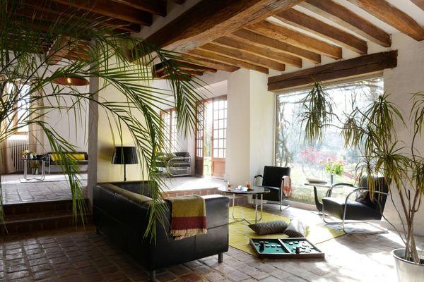 Le salon du domaine de l'Ocrerie à Pourrain dans l'Yonne