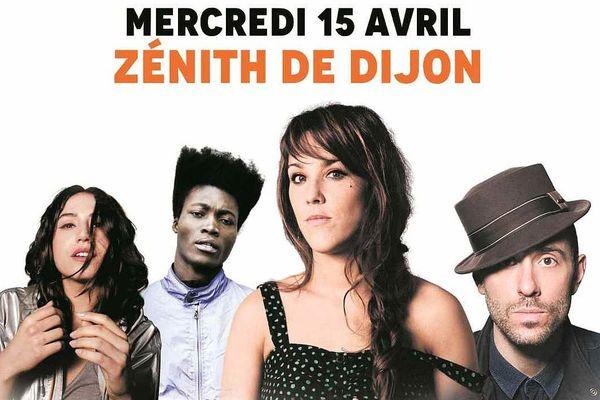 """Izïa, Benjamin Clémentine, Zaz, Charlie Winston seront sur la scène du Zénith de Dijon le 15 Avril pour le """"Podium Europe 1"""""""