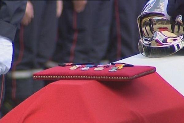 L'hommage des pompiers à Fanny Simon - 24 septembre 2015