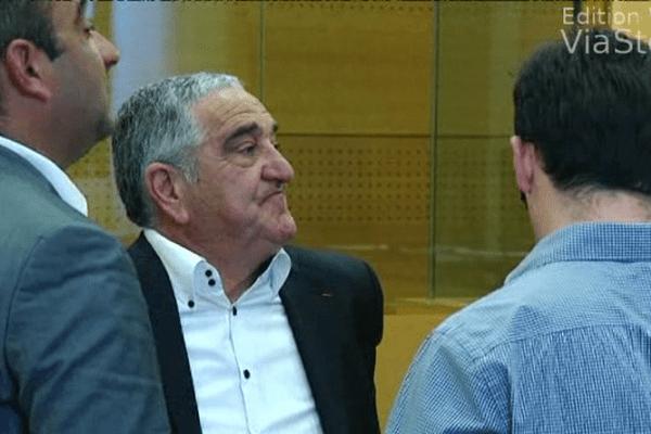 Le président du PRG de Haute-Corse Alexandre Alessandrini lors du procès le 27 mai 2014