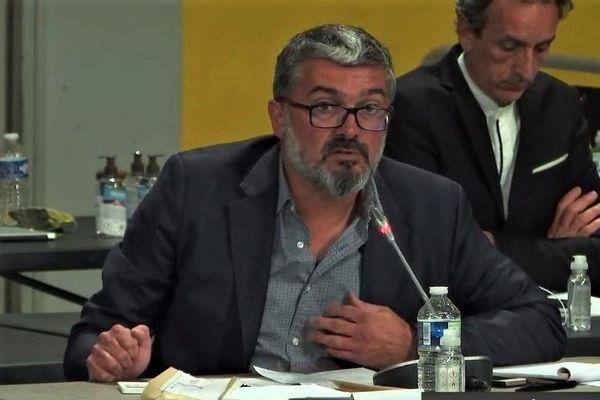 Bruno Coeur lors du conseil métropolitain d'Orléans le jeudi 16 juillet