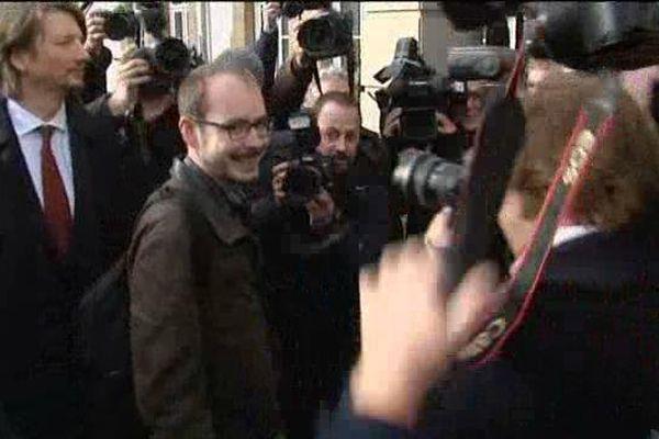 Antoine Deltour lors du procès LuxLeaks au tribunal de Luxembourg