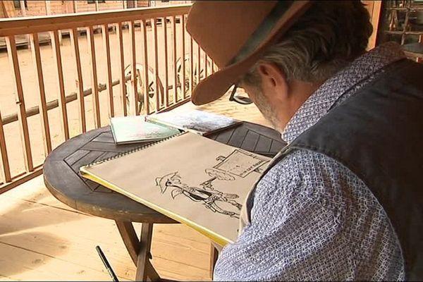 """Achdé, dessinateur de Lucky Luke depuis 2003 et """"habitant"""" de Carchet City."""