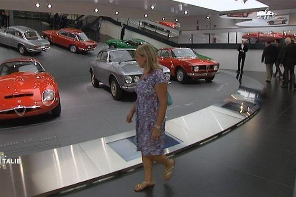 Le musée Alfa Romeo d'Arese en Italie