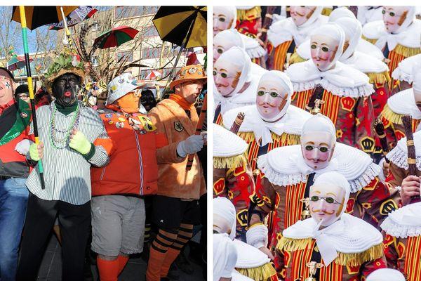 Le week-end du mardi gras au carnaval de Dunkerque et de Binche