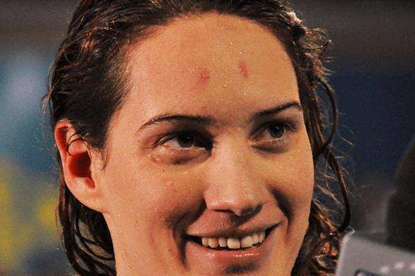 Camille Muffat, tout sourire, malgré ses échecs, jeudi