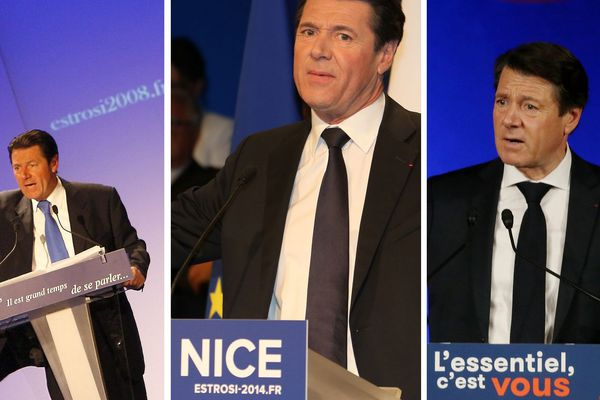 Les trois campagnes de Christian Estrosi aux municipales de 2008, 2014 et 2020 à Nice