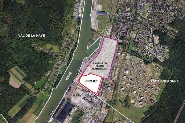 Plan de situation dans le cadre du permis de construire déposé par l'entreprise Gazeley.