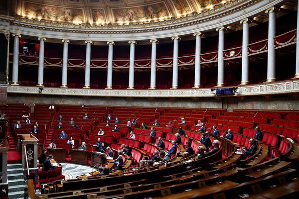 L'hémicycle de l'Assemblée nationale lors des questions au gouvernement le 12 mai 2020.