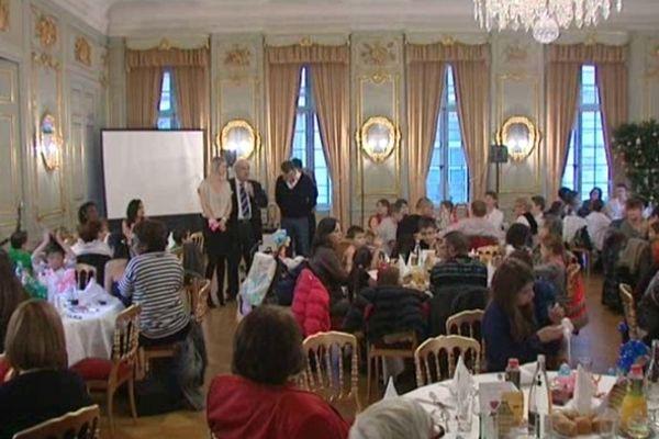 Déjeuner de Noël à la salle Mozart